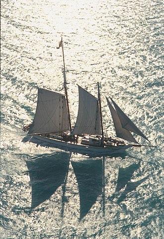 Western Union (schooner) - The Western Union returning to Key West in 1985