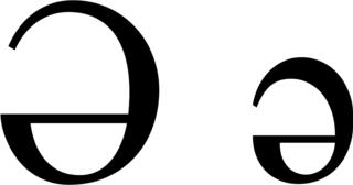 Ə letter of the Latin alphabet