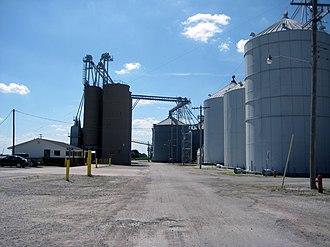 Sciota, Illinois - Farmers Elevator Company in Sciota, 2013.