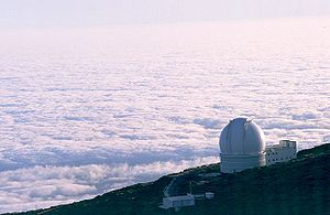 Sea of clouds around La Palma