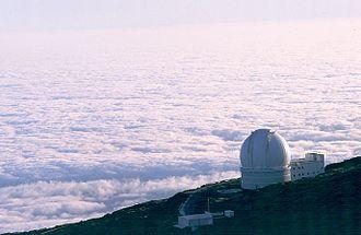 William Herschel Telescope - Image: Sea of clouds around La Palma