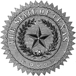 Seal of Texas - Image: Seal of Texas (1879)