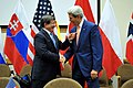 Secretary Kerry, Turkish Foreign Minister Davutoglu Shake Hands Before Meeting at NATO Headquarters in Brussels (14525323563).jpg