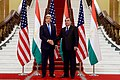 Secretary Kerry Shakes Hands With Tajikistan President Rahmon at the Palace of Nations in Dushanbe, Tajikistan (22744838565).jpg