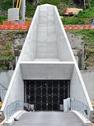 Porta Alpina - The current Sedrun Portal