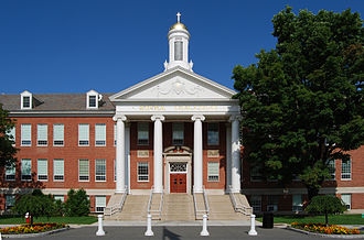 Siena College - Front view of Siena Hall, one of the primary academic buildings