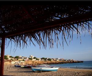 Maio, Cape Verde - City of Maio at sunset