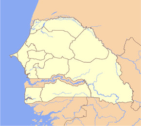Kaffrine is located in Senegal