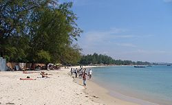 Strand von Sihanoukville 2005 (Serendipity und Ochheuteal Beach)