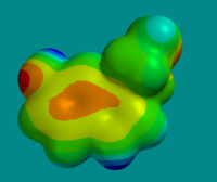 Electron Map of the serotonin molecule