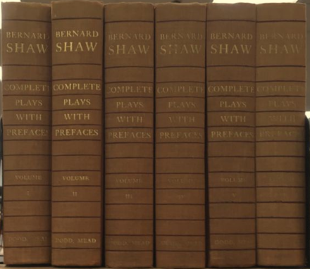 Shaw's complete plays Set of the complete plays of Shaw.png