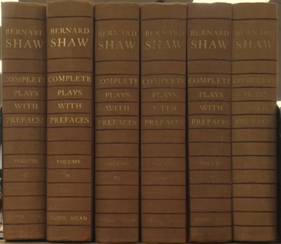 Set of the complete plays of Shaw