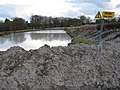 Settlement lagoon and clay waste, Ringslade Quarry - geograph.org.uk - 1730044.jpg