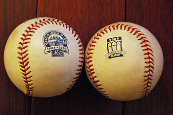 Shea and Citi Field baseballs.