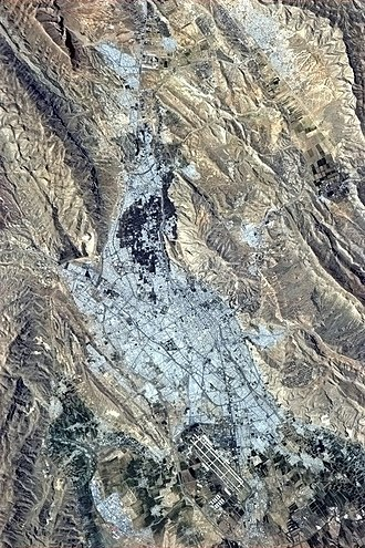 Shiraz - Shiraz, Iran is pictured in this photo taken by Col. Chris Hadfield of the Canadian Space Agency from the International Space Station. Taken on March 20, 2013 (1392 Nowrooz).