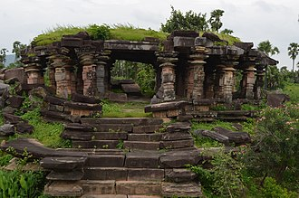 Telangana - Kota Gullu, temple ruins built in the 12th century by Kakatiyas at Ghanpur, Mulug in Warangal district.