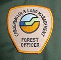 Shoulder badge CALM Forest officer Coat 2005.JPG