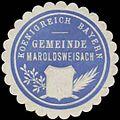 Siegelmarke Gemeinde Maroldsweisach K. Bayern W0352303.jpg
