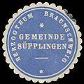 Siegelmarke Gemeinde Süpplingen H. Braunschweig W0387838.jpg