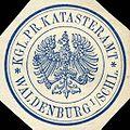 Siegelmarke Königlich Preussische Katasteramt - Waldenburg in Schlesien W0216348.jpg