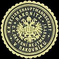 Siegelmarke K.K. Bezirkshauptmannschaft Rakonitz W0320957.jpg