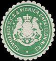 Siegelmarke Kommando d. K.S. 2. Pionier-Batallion Nr. 22 W0352321.jpg
