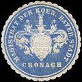 Siegelmarke Magistrat der Koen. Bayer. Stadt Cronach W0338054.jpg