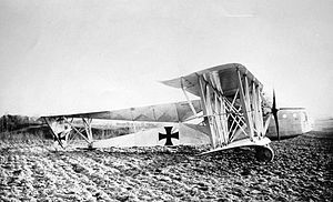 Siemens-Schuckert R.VI - The R.VI after a forced landing