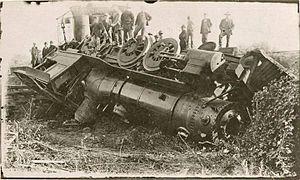 Sierra No. 3 - 1918 derailment that destroyed the original Wooden cab.