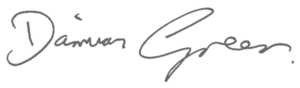Damian Green - Image: Signature of Damian Green