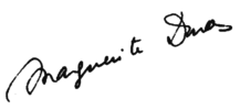 Signature of Marguerite Duras.png