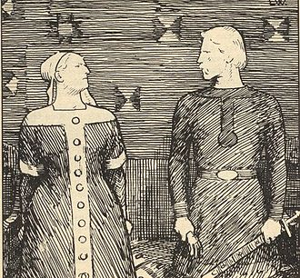 Battle of Svolder - Olaf Tryggvason proposes marriage to Sigrid the Haughty, on condition she convert to Christianity. When Sigrid rejects this, Olaf strikes her with a glove. She warns him that might lead to his death.