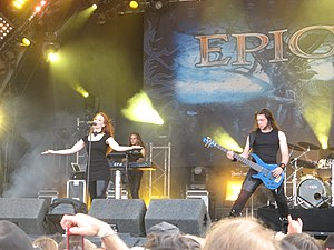 Epica (band) - Epica performing in 2009