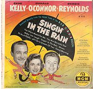 Pochette du disque 45 tours Singing in the rain.