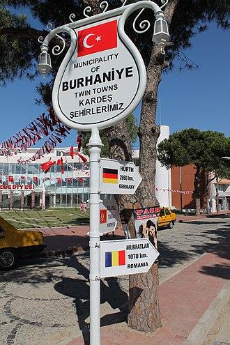 Burhaniye - Image: Sister towns Burhaniye