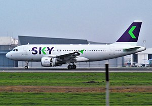 Sky Airline - One of many Airbus A319s operated by Sky Airline in the new livery.