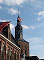 Slag om Grolle 2008-3 - De Spaanse vlag wappert aan de Calixtuskerk in Groenlo in 1627.jpg