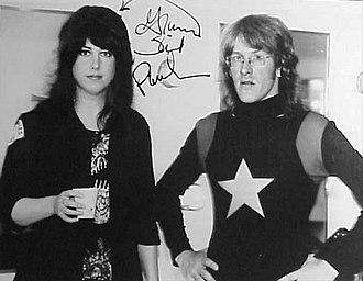 Paul Kantner - Kantner and Grace Slick, circa 1977, while members of Jefferson Starship