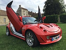 2006 Smart Roadster with prepared panel and scissor doors. & Scissor doors - Wikipedia