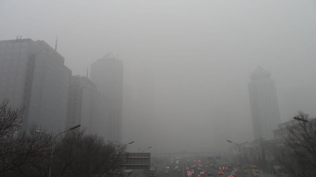 Smog in Beijing CBD