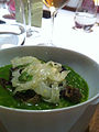 Snail porridge with shaved fennel (7164114067).jpg