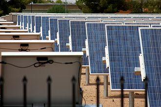 Solar power in Arizona - Arizona State University solar array