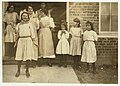 Some samples (not all) of the children in the 'Kindergarten Factory' run by the High Point and Piedmont Hosiery Mills, High Point, N.C. Every child in these photos worked; I saw them at work LOC nclc.02635.jpg
