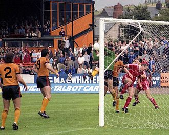 Newport County A.F.C. - Top-of-the-table Newport playing Oxford United in a Third Division clash in 1981