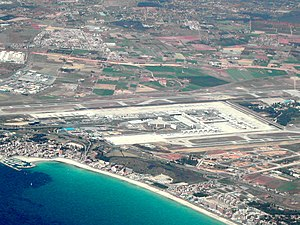 Aerial photo of Palma de Mallorca Airport (Son...