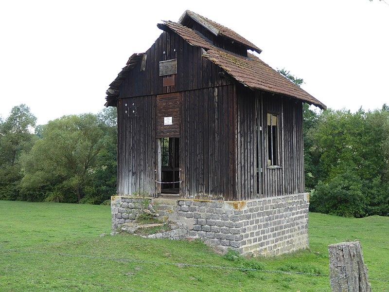 Old shed of a salt mine in Lenoncourt (France).