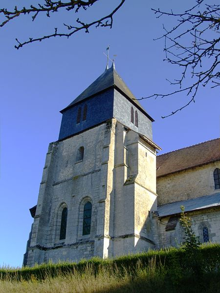 Soudron (Marne, France): Tower of church St-Pierre-St-Paul