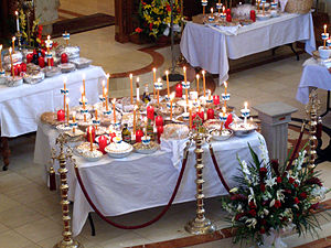 Saturday of Souls - Kollyva offerings of boiled wheat blessed liturgically on Soul Saturday (Psychosabbaton).
