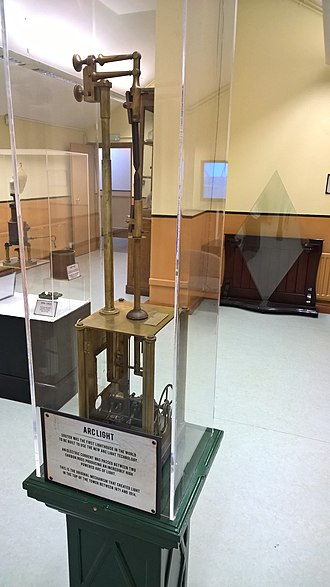 Souter Lighthouse - The original arc lamp assembly, in use from 1871-1914, now on display in the lighthouse visitor centre.