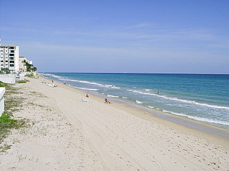 South Palm Beach, Florida - The beach in South Palm Beach (2004)